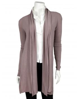 Long Strickjacke mit Kaschmir, flieder von Fruity Fashion von Fruity Fashion