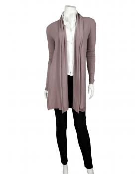 Long Strickjacke mit Kaschmir, flieder