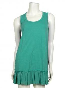 Damen Long Top, aqua
