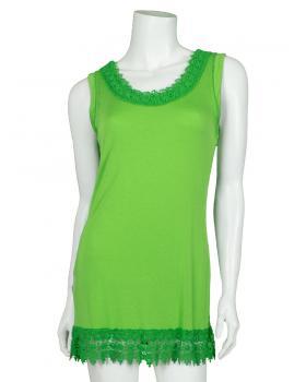 Shirt mit Spitze, grün