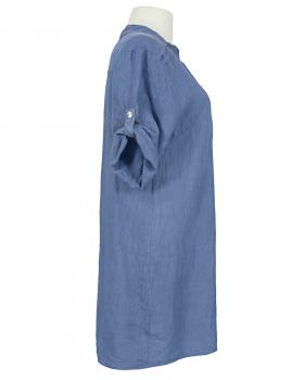 Long Tunika Leinen, jeansblau
