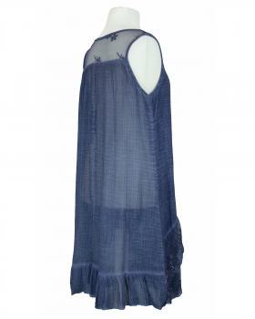 Long Tunika mit Spitze, blau (Bild 2)