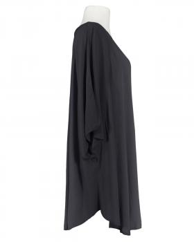 Long Tunika Viskose, schwarz