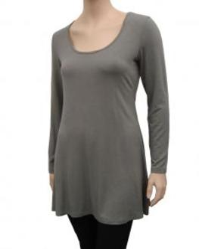Longshirt A-Form, grau (Bild 1)
