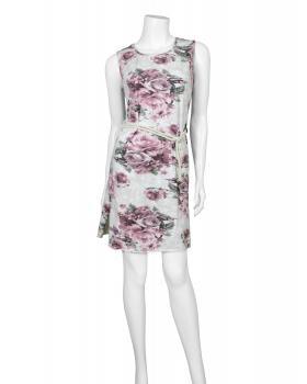 Damen Longshirt mit Blüten, weiss