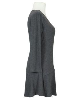 Longshirt mit Schlitz, grau meliert