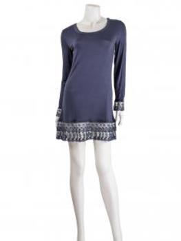 Longshirt mit Spitze, blau (Bild 2)
