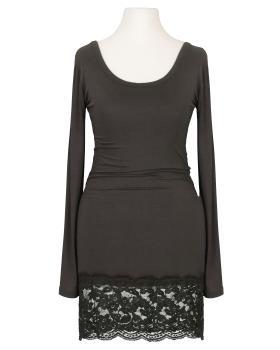 Longshirt mit Spitze, braun von Italia Moda