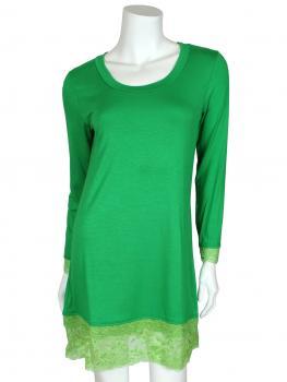 Longshirt mit Spitze, grün
