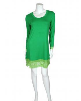 Damen Longshirt mit Spitze, grün