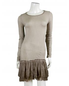 Longshirt mit Spitze, schlamm (Bild 1)