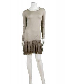 Longshirt mit Spitze, schlamm (Bild 2)