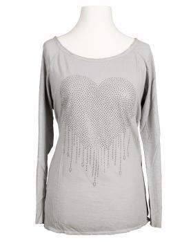 Shirt Herz, hellgrau von Spaziodonna (Bild 1)