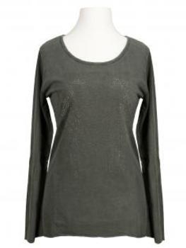 Longsleeve Shirt Herz, oliv von Spaziodonna (Bild 1)