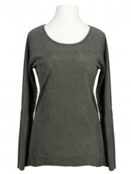 Longsleeve Shirt Herz, oliv