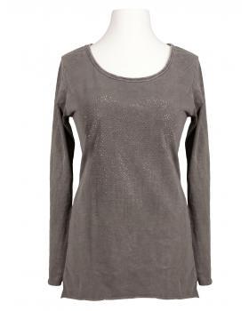Longsleeve Shirt Herz, schlamm von Spaziodonna (Bild 1)