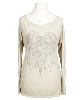 Shirt Herz, beige von Spaziodonna (Bild 1)