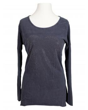 Longsleeve Shirt Herz, blau von Spaziodonna (Bild 1)