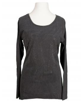 Longsleeve Shirt Herz, grau von Spaziodonna (Bild 1)