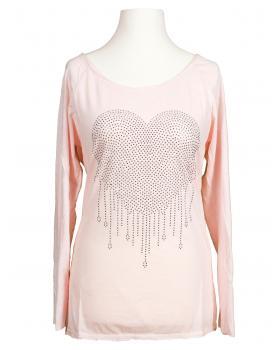 Shirt Herz, rosa von Spaziodonna (Bild 1)