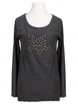 Longsleeve Shirt mit Stern, grau von Spaziodonna