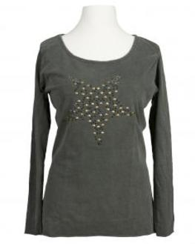 Longsleeve Shirt mit Stern, oliv