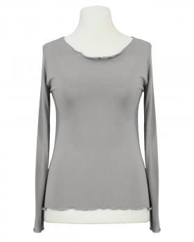 Longsleeve Viskose, taupe von Made in Italy