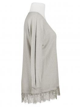 Lurex Shirt mit Spitze, taupe (Bild 2)