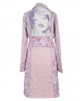 Mantel mit Stickerei, rosa (Bild 2)