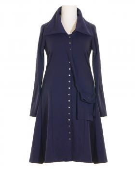 Jerseykleid Mantel mit Tasche, blau