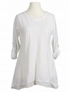 Pailletten Shirt A-Form, weiss von RESTART von RESTART