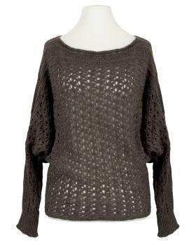 Pullover aus Ajourstrick, braun von ZYC Italy