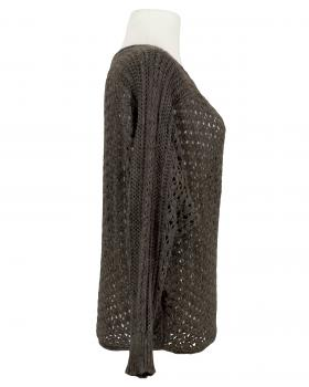 Pullover aus Ajourstrick, braun (Bild 2)