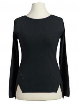 Pullover Feinstrick, schwarz