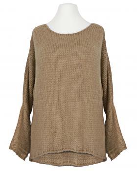 Pullover Grobstrick, camel von New Collection