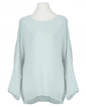Pullover Grobstrick, eisblau von New Collection