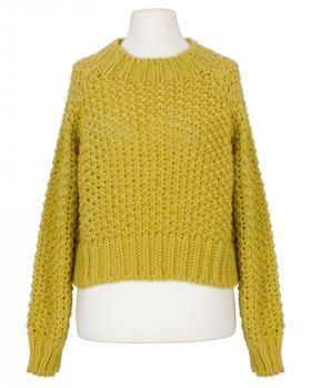 Pullover Grobstrick, gelb