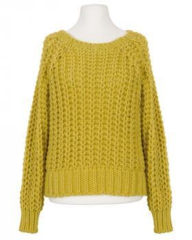 Pullover Grobstrick, gelb von Made in Italy