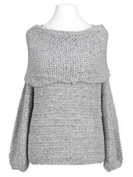 Pullover Grobstrick, grau