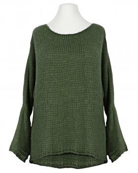 Pullover Grobstrick, oliv von New Collection