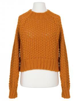 Pullover Grobstrick, orange von Made in Italy