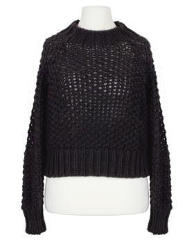 Pullover Grobstrick, schwarz von Made in Italy