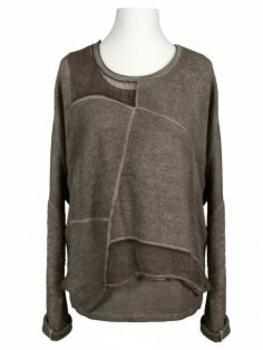 Pullover mit Chiffon 2-tlg., schlamm