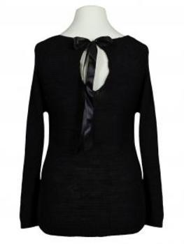 Pullover mit Herzen, schwarz (Bild 2)