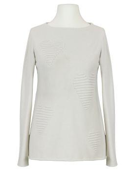 Pullover mit Herzmuster, beige von Finery