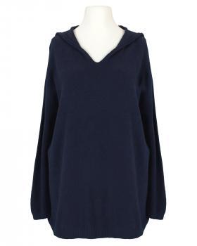 Pullover mit Kapuze, blau von Made in Italy
