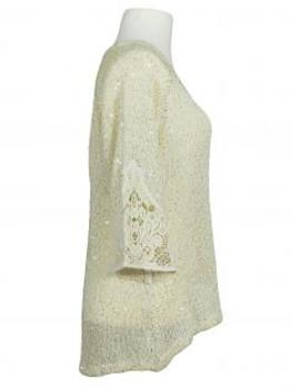 Pullover mit Pailletten, creme (Bild 2)