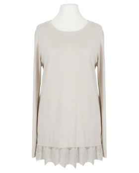 Pullover mit Spitze, beige (Bild 1)