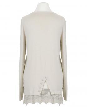 Pullover mit Spitze, beige (Bild 2)