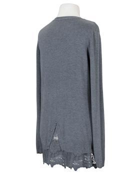 Pullover mit Spitze, grau